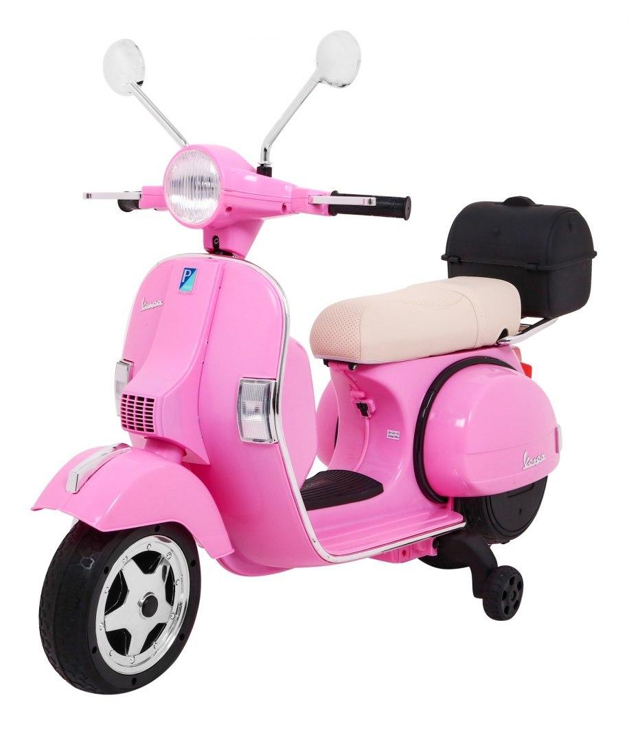 Dětská elektrická motorka Vespa - růžová