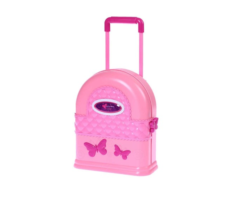 Kufříkový domeček pro panenky s nábytkem