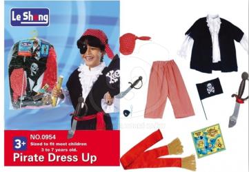 Kostým piráta s příslušenstvím