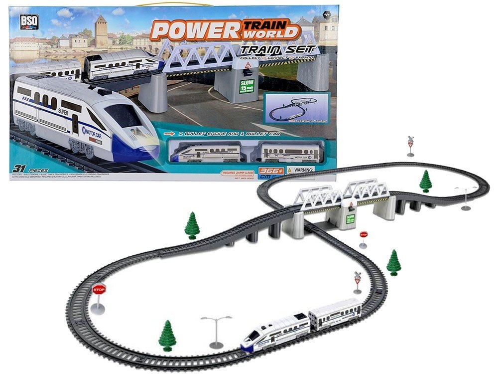 Elektrická vláčkodráha s moderním vlakem