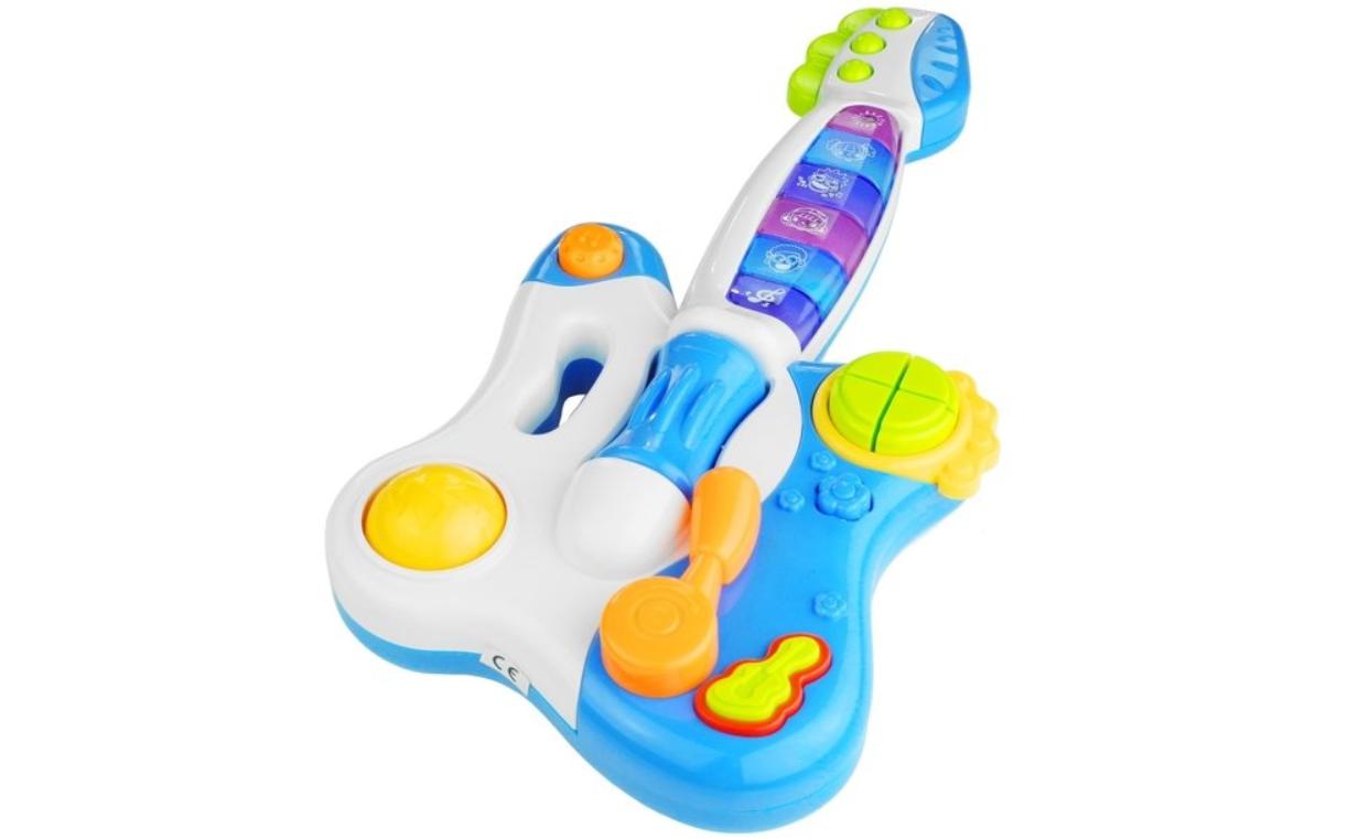 Interaktivní kytara s piánem - modrá