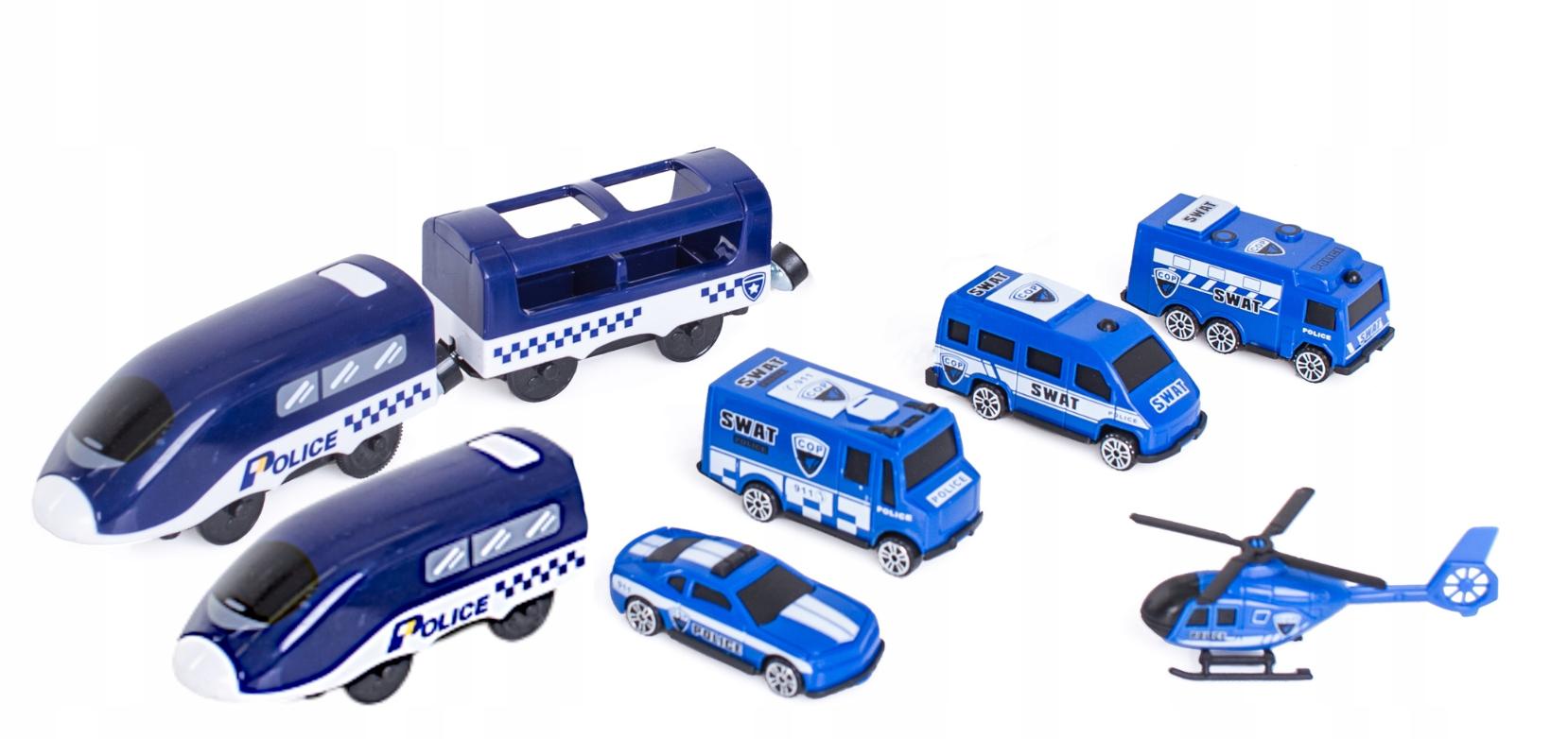 HračkyZaDobréKačky Dětská vláčkodráha Policie
