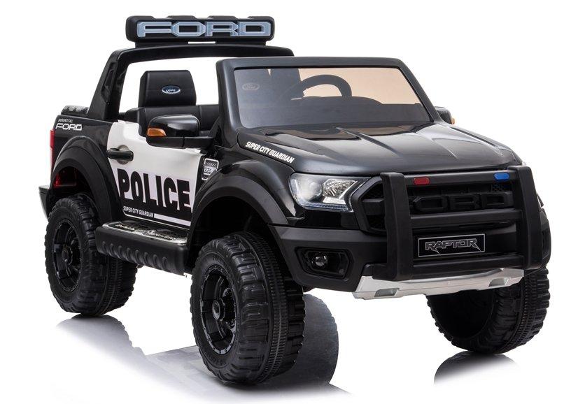 Elektrické autíčko Ford Ranger Raptor - policie černé