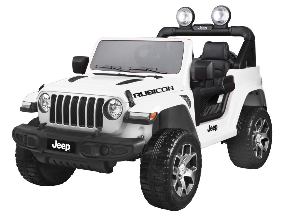 Elektrické autíčko Jeep Wrangler Rubicon - bílé