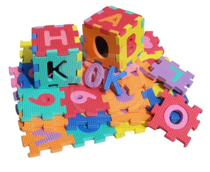 EVA Pěnové puzzle 16 x 16cm 72 ks