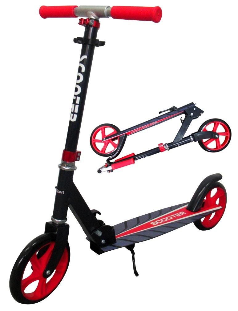 Velká skládací koloběžka Scooter R-sport - červená