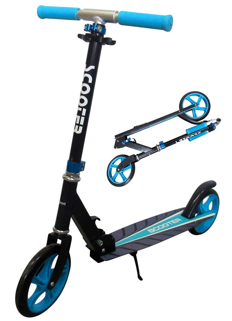 Velká skládací koloběžka Scooter R-sport - modrá
