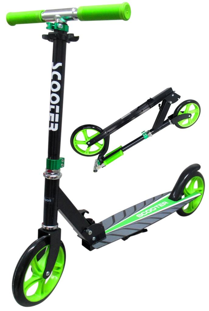 Velká skládací koloběžka Scooter R-sport - zelená