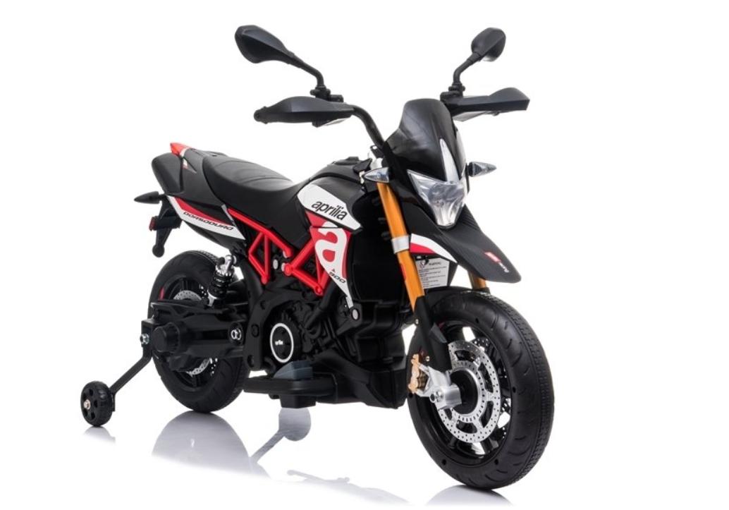 Elektrická motorka Aprilia - černo-červená