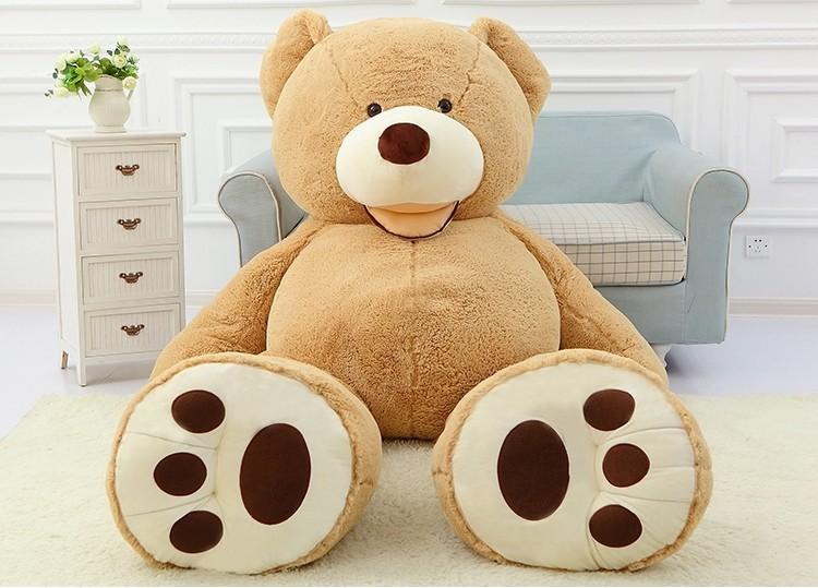 Plyšový medvěd GIGANT 160 cm - světle hnědý