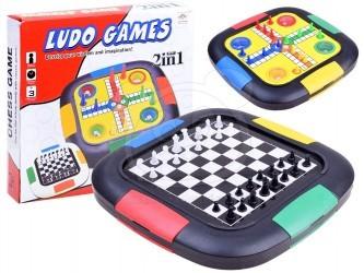 Desková hra 3v1 - Šachy, Dáma a Člověče, nezlob se