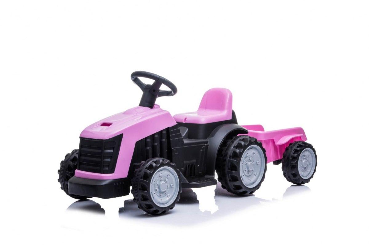 Elektrický traktor s přívěsem TR1908 - růžový