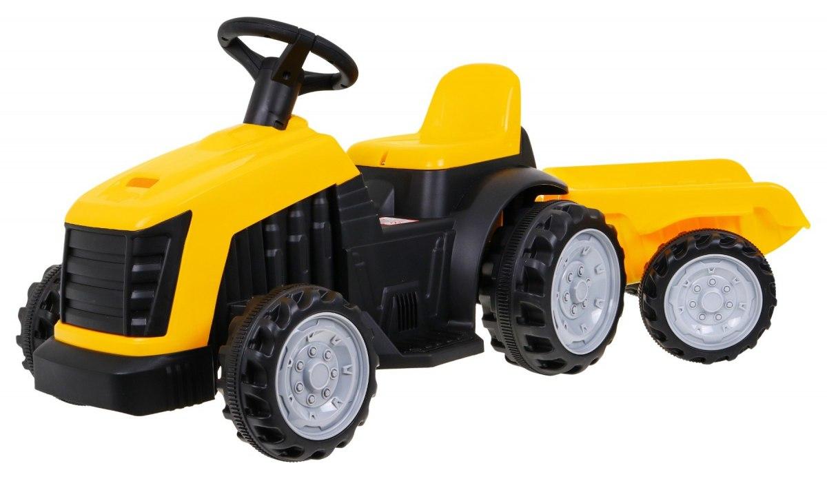 Elektrický traktor s přívěsem TR1908 - žlutý