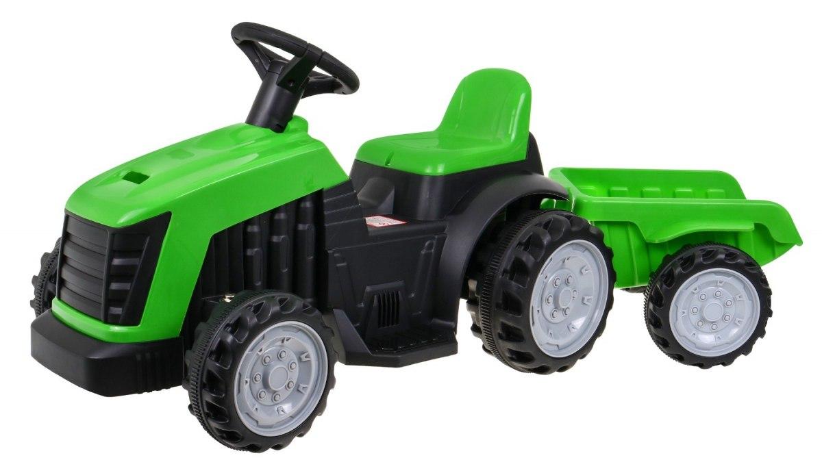 Elektrický traktor s přívěsem TR1908 - zelený