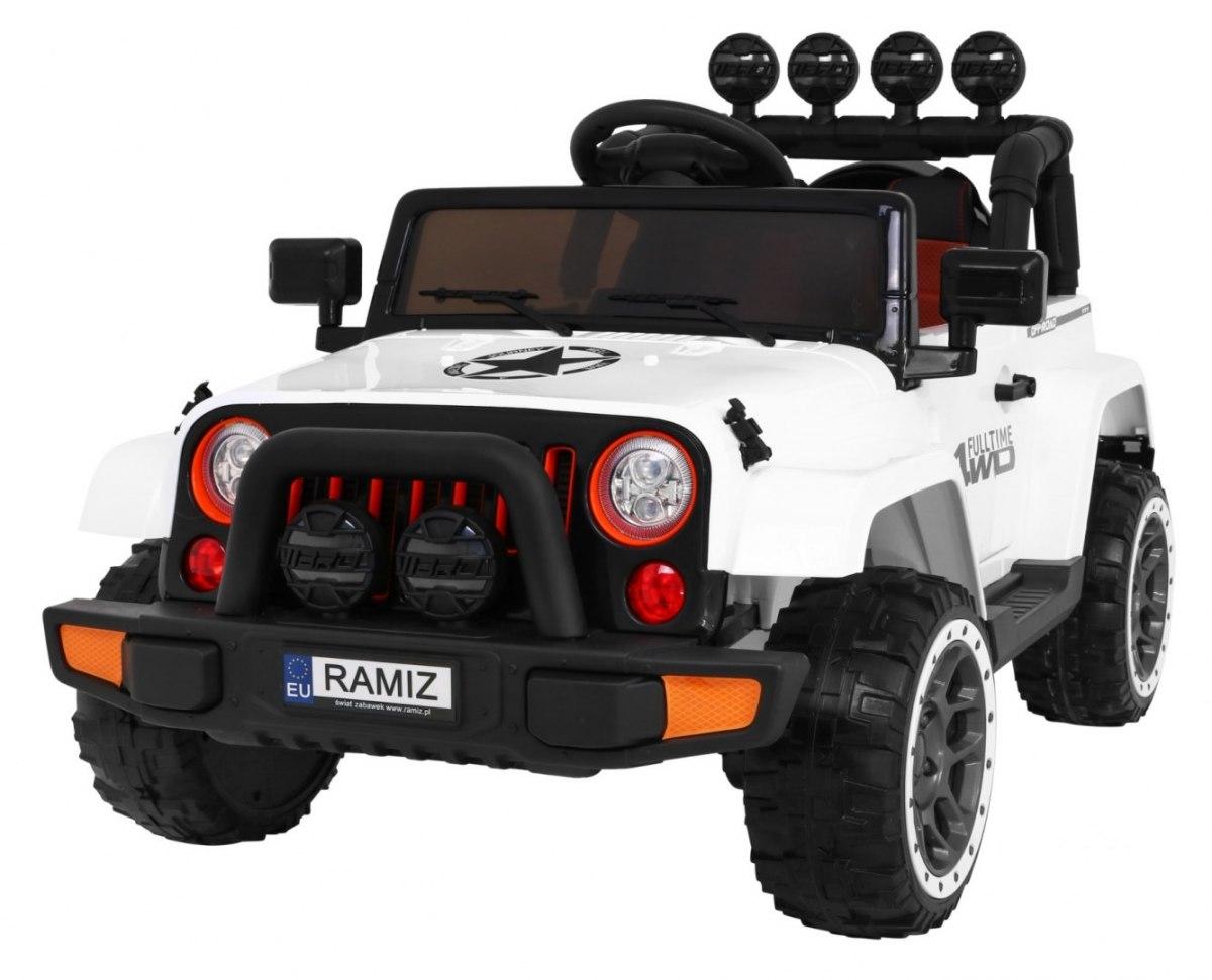 Elektrické terénní autíčko Full Time 4WD - bílé