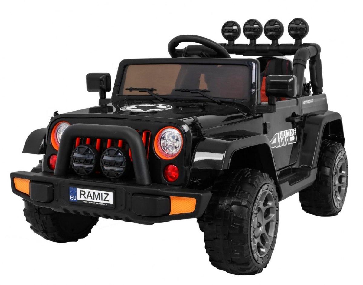 Elektrické terénní autíčko Full Time 4WD - černé
