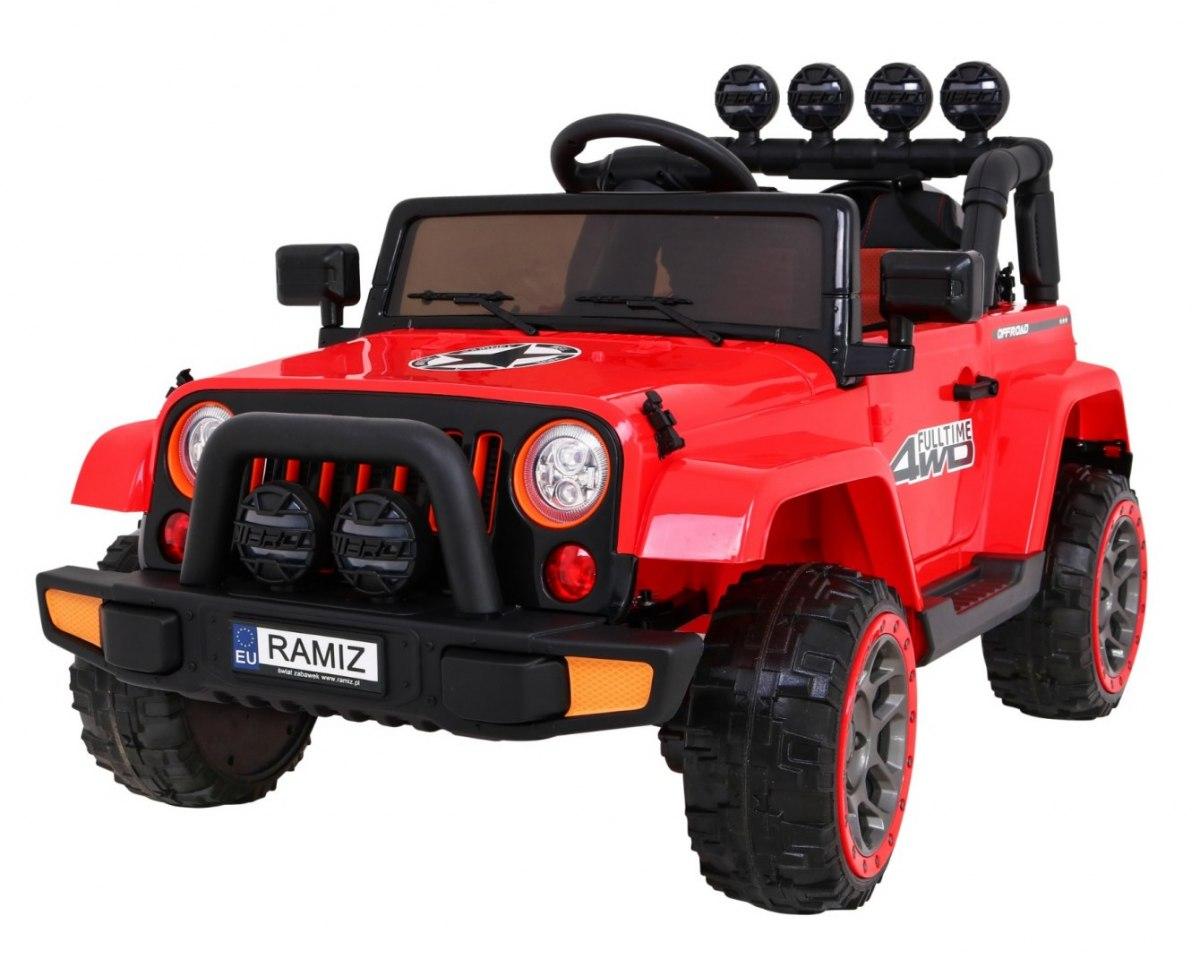 Elektrické terénní autíčko Full Time 4WD - červené