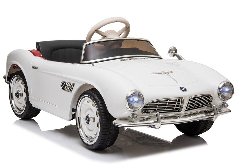 Elektrické autíčko BMW 507 Retro - bílé