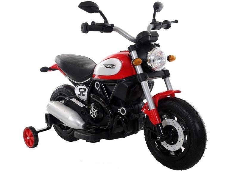Dětská elektrická motorka Shadow - červená