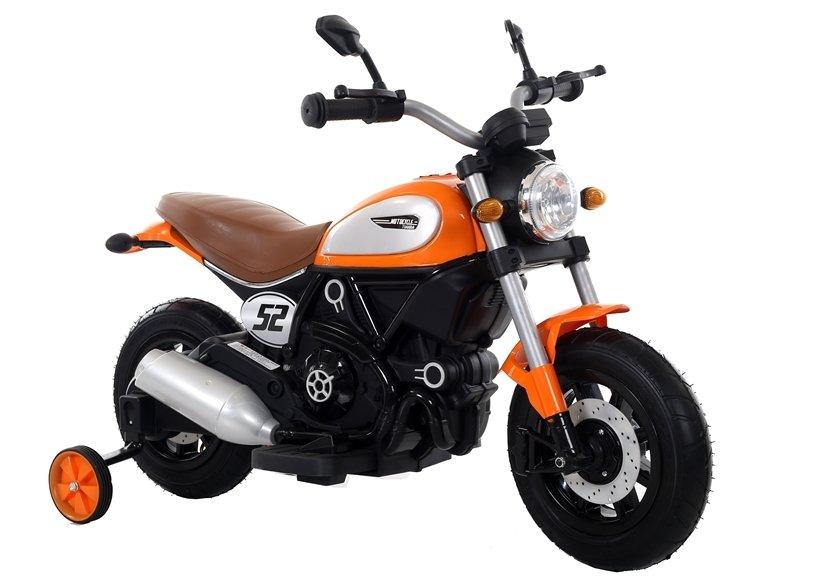 Dětská elektrická motorka Shadow - oranžová