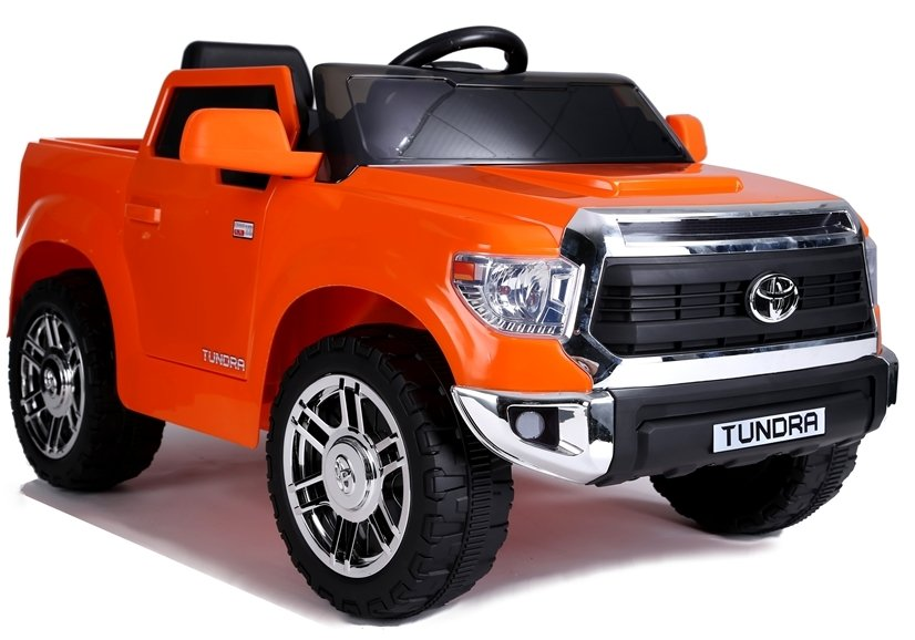 Dětské elektrické autíčko Toyota Tundra - lakované oranžové