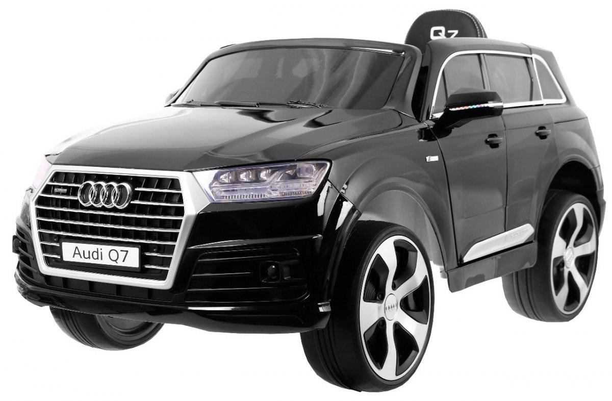 Audi Q7 s 2,4G bluetooth DO, EVA kola, kožená sedačka - lakované černé