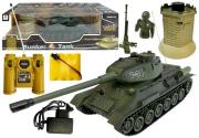 RC Tank 1:28 Zelený s bunkrem