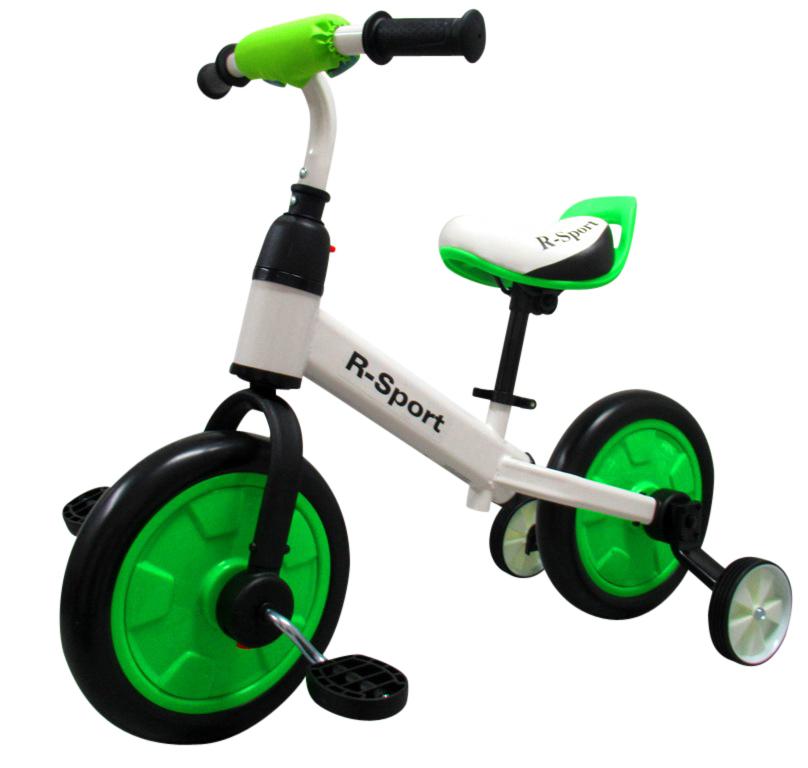 Dětské odrážedlo 3v1 - zelené R-Sport