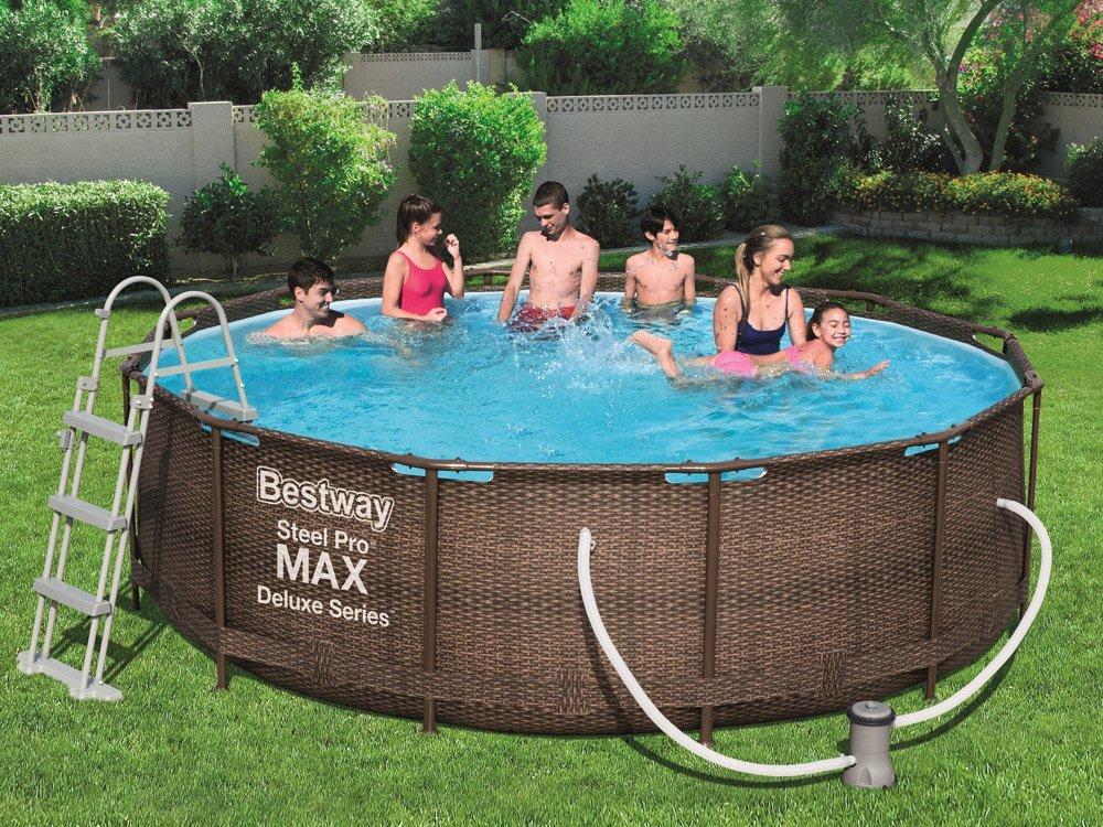 Bazén Steel Pro Max Rattan 3,66x1m 56709 9v1