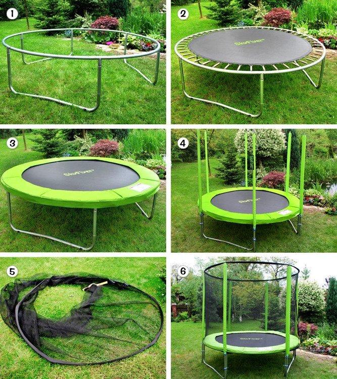 Zahradní trampolína SKY FLYER RING 2v1 180 cm