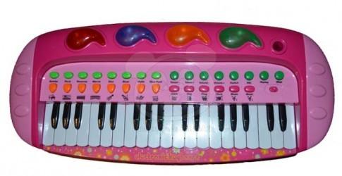 Dětské klávesy - růžové