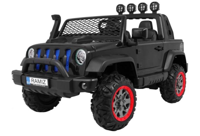 HračkyZaDobréKačky elektrické autíčko ALLROAD 4X4 - černé