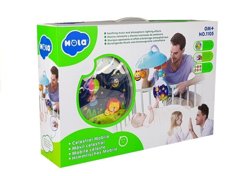 Huile Toys kolotoč nad postýlku s projektorem, DO