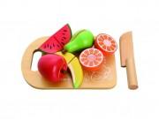 HračkyZaDobréKačky Dřevěné ovoce s deskou na krájení