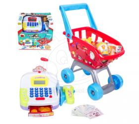 Dětská pokladna s nákupním košíkem