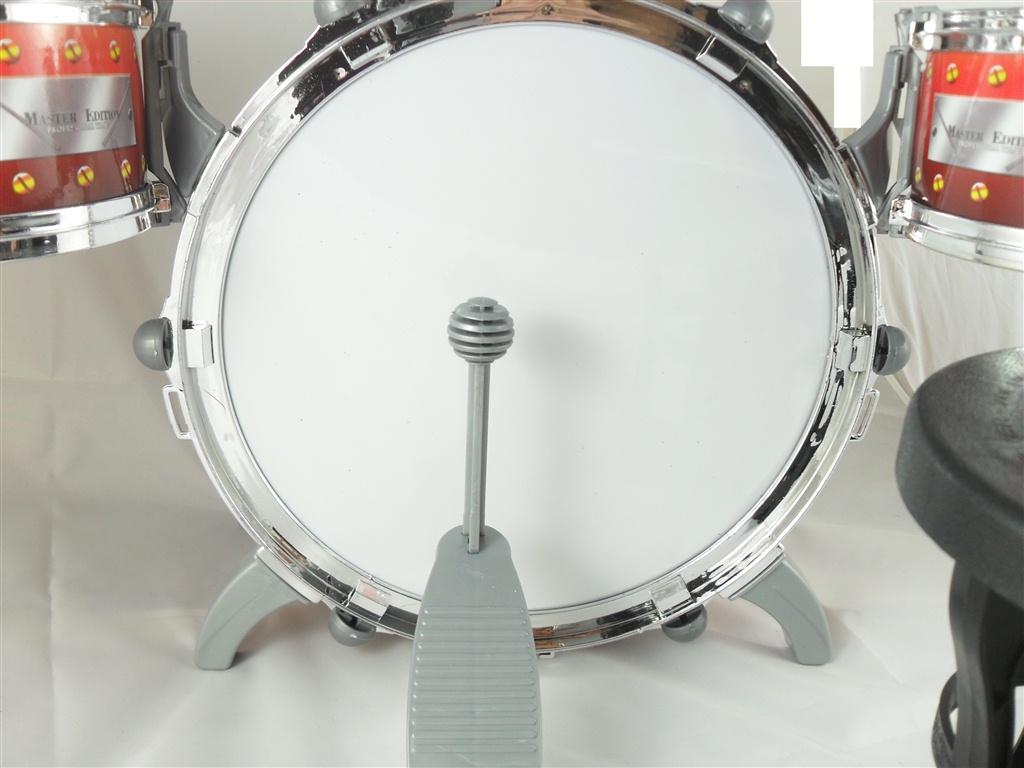 Dětská bicí sestava s 5 bubny a židličkou