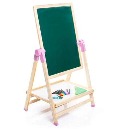 Dětská otočná dřevěná tabule s příslušenstvím