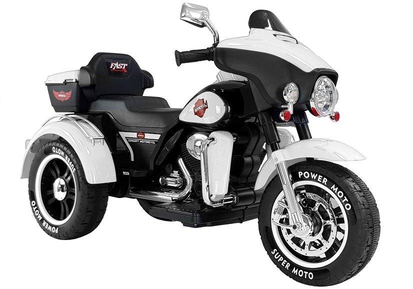Dětská elektrická motorka ABM-5288 - bílá