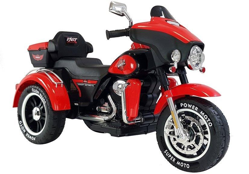 Dětská elektrická motorka ABM-5288 - červená