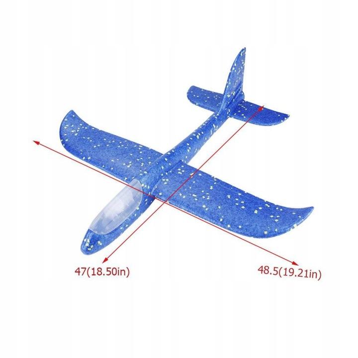 LED Svítící házecí letadlo