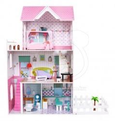 HračkyZaDobréKačky dřevěný domeček pro panenky ANGELINA