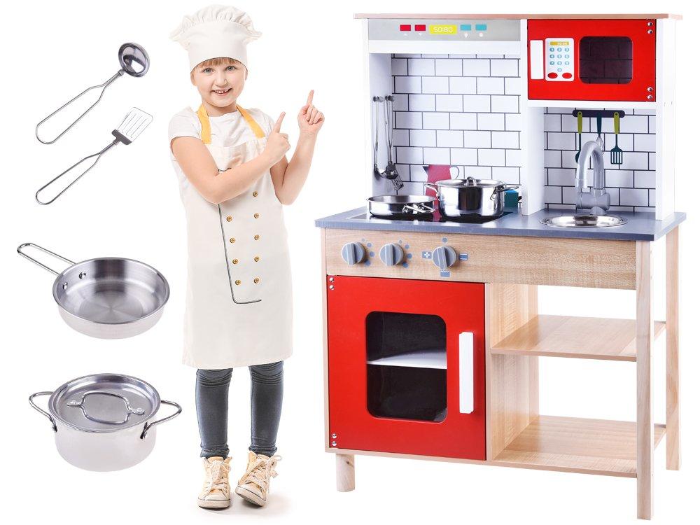 HračkyZaDobréKačky Dřevěná kuchyňka s příslušenstvím