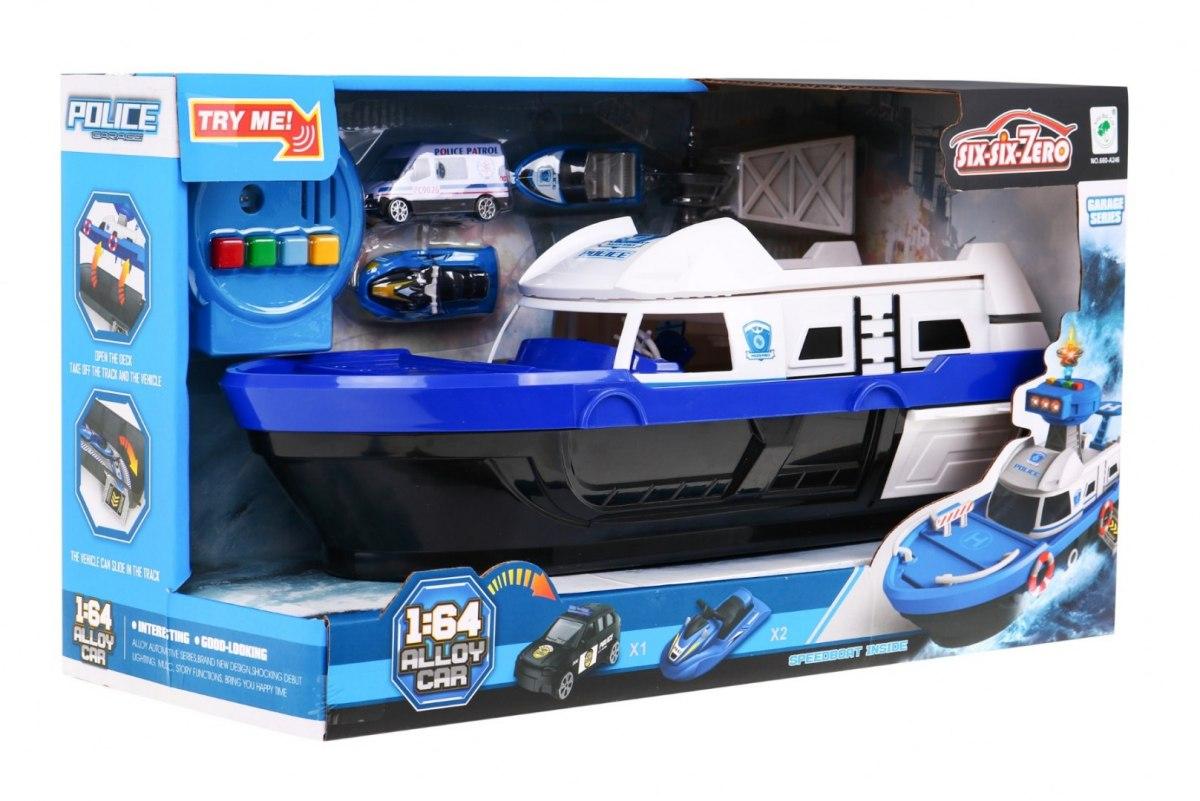 HračkyZaDobréKačky Policejní loď s příslušenstvím