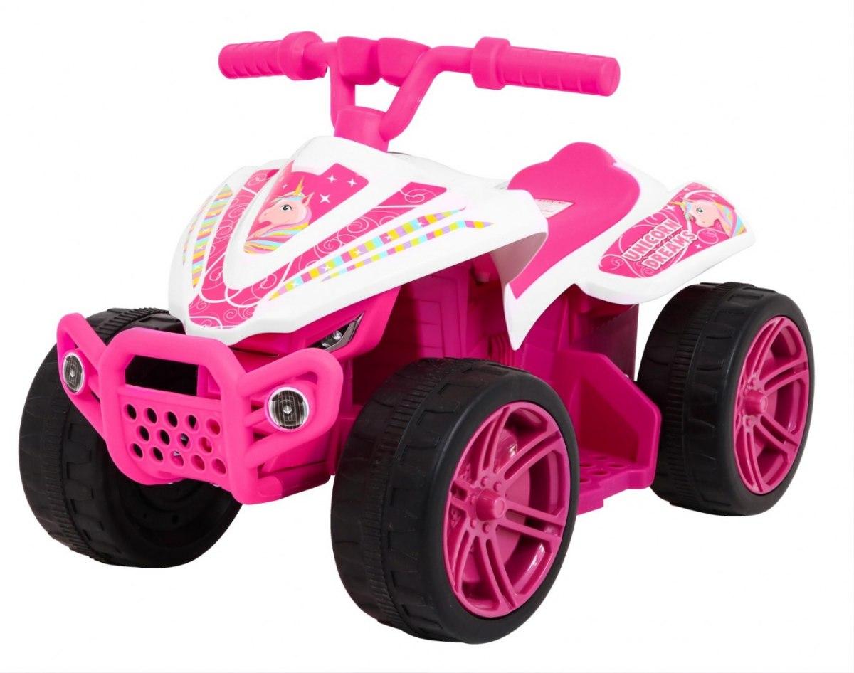 Elektrická čtyřkolka Little Monster - růžová