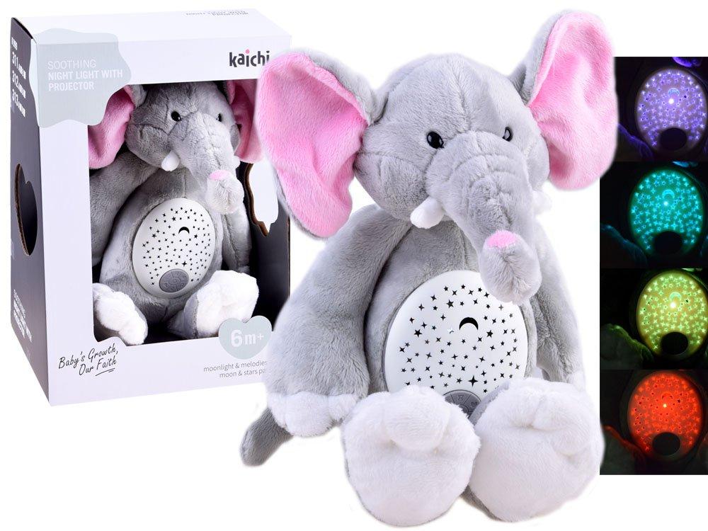 Plyšový slon s projektorem