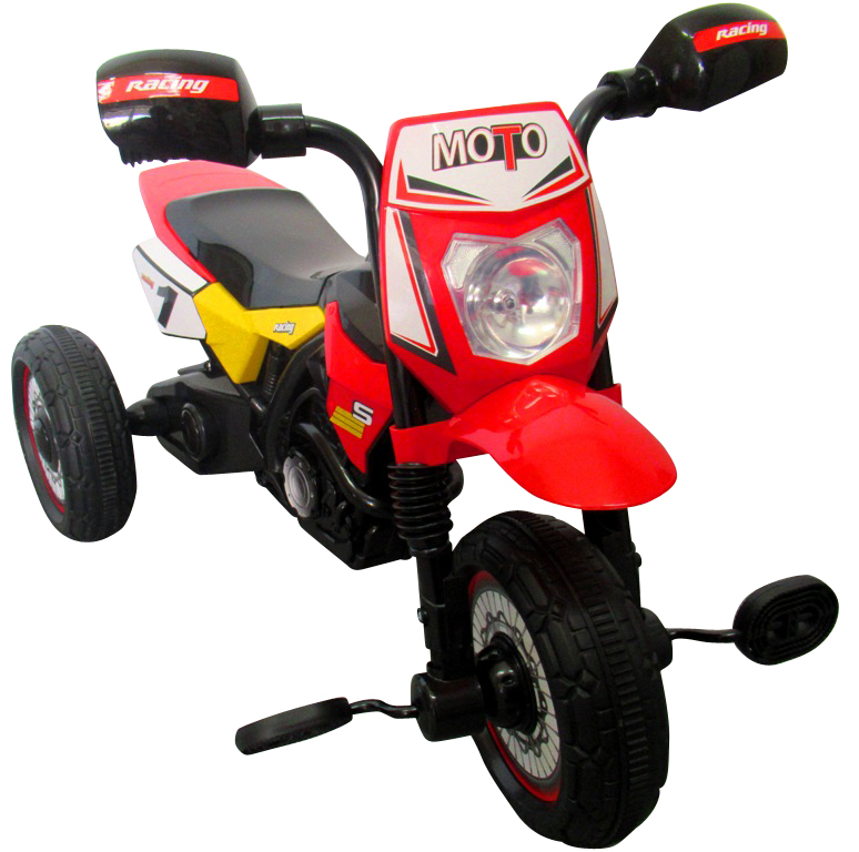 Dětská šlapací tříkolka Motorka - červená