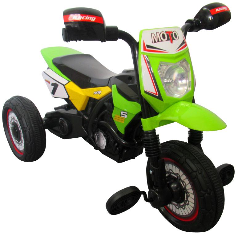 Dětská šlapací tříkolka Motorka - zelená