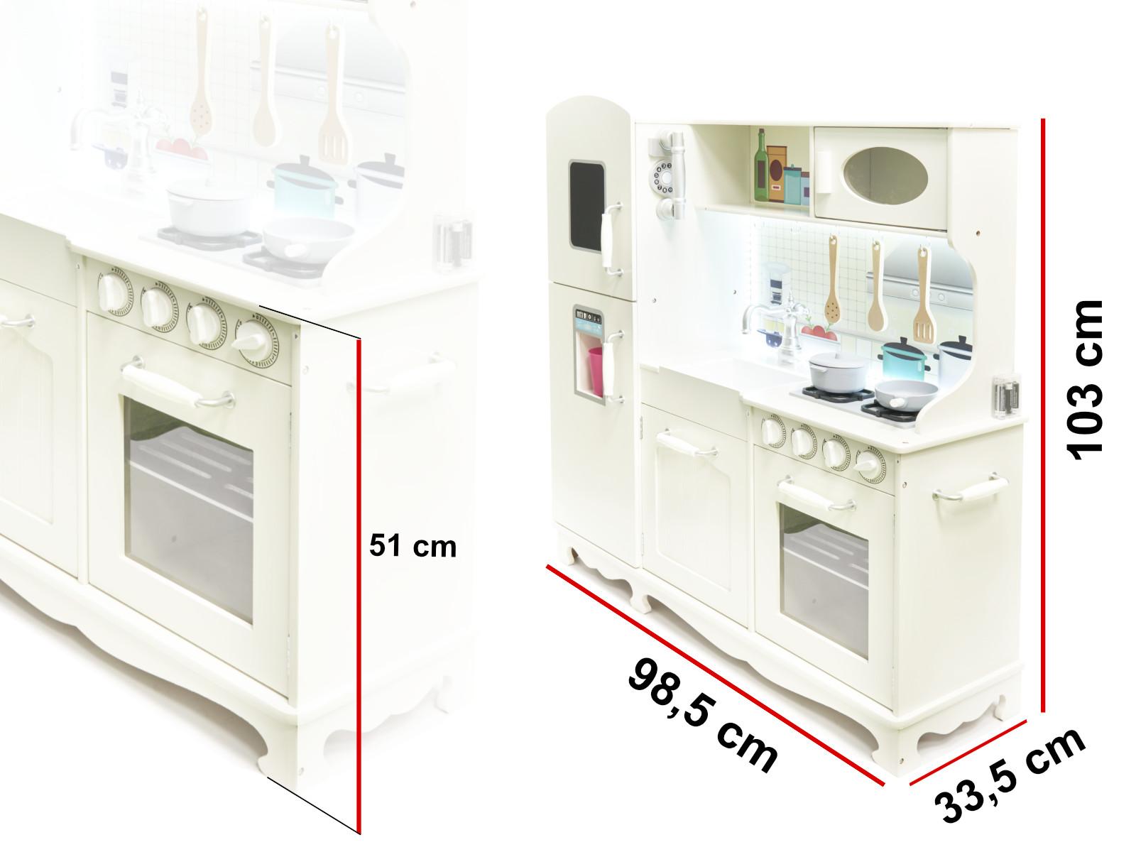 Dřevěná kuchyňka XXL s LED
