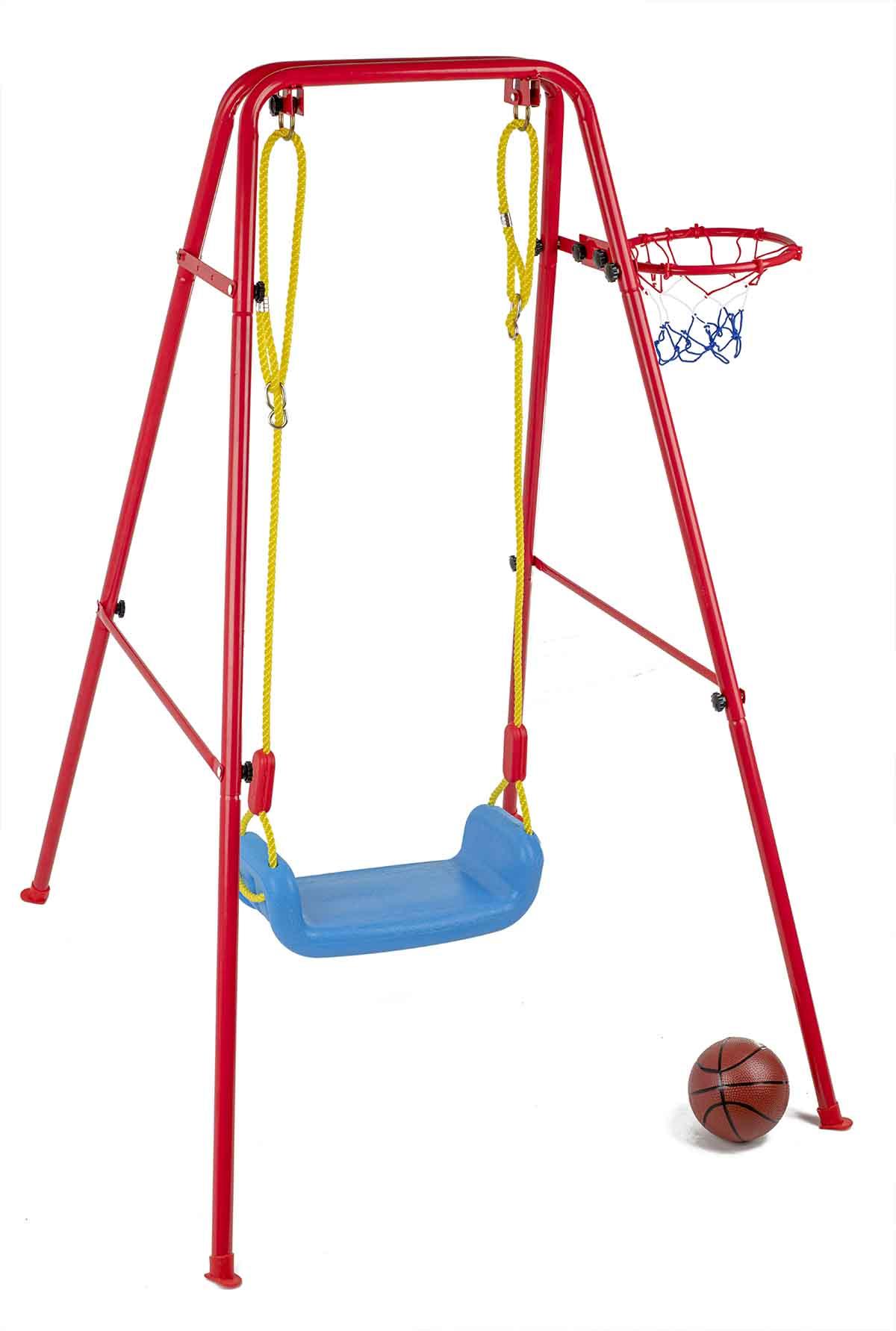 Dětská houpačka s basketbalovým košem