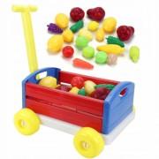 Dětský zahradní vozík se zeleninou